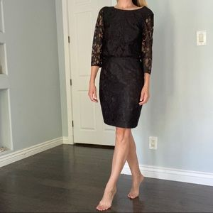 NWT Trina Turk Black Lace Cocktail Dress 2